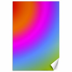 Radial Gradients Red Orange Pink Blue Green Canvas 24  X 36