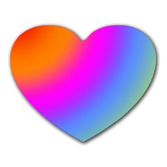 Radial Gradients Red Orange Pink Blue Green Heart Mousepads