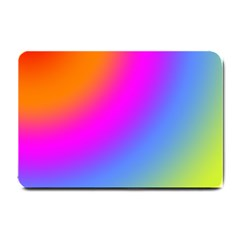 Radial Gradients Red Orange Pink Blue Green Small Doormat