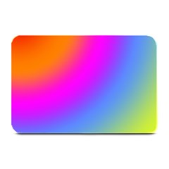 Radial Gradients Red Orange Pink Blue Green Plate Mats