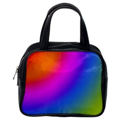 Radial Gradients Red Orange Pink Blue Green Classic Handbags (one Side)