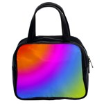 Radial Gradients Red Orange Pink Blue Green Classic Handbags (2 Sides) Front