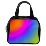 Radial Gradients Red Orange Pink Blue Green Classic Handbags (2 Sides) Back