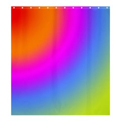 Radial Gradients Red Orange Pink Blue Green Shower Curtain 66  X 72  (large)