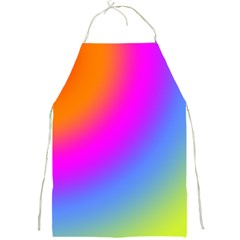 Radial Gradients Red Orange Pink Blue Green Full Print Aprons