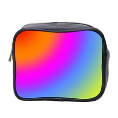 Radial Gradients Red Orange Pink Blue Green Mini Toiletries Bag 2 Side