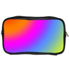 Radial Gradients Red Orange Pink Blue Green Toiletries Bags