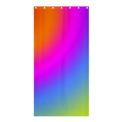 Radial Gradients Red Orange Pink Blue Green Shower Curtain 36  X 72  (stall)