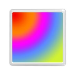 Radial Gradients Red Orange Pink Blue Green Memory Card Reader (square)