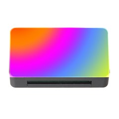 Radial Gradients Red Orange Pink Blue Green Memory Card Reader With Cf