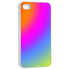 Radial Gradients Red Orange Pink Blue Green Apple Iphone 4/4s Seamless Case (white)