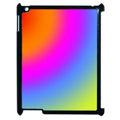 Radial Gradients Red Orange Pink Blue Green Apple Ipad 2 Case (black)