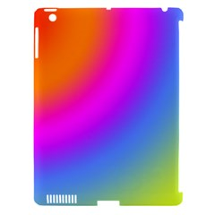 Radial Gradients Red Orange Pink Blue Green Apple Ipad 3/4 Hardshell Case (compatible With Smart Cover)