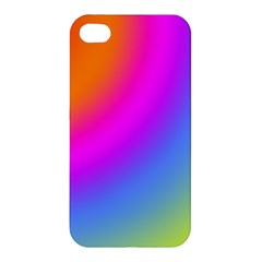 Radial Gradients Red Orange Pink Blue Green Apple Iphone 4/4s Premium Hardshell Case