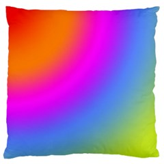 Radial Gradients Red Orange Pink Blue Green Large Cushion Case (one Side)