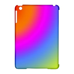 Radial Gradients Red Orange Pink Blue Green Apple Ipad Mini Hardshell Case (compatible With Smart Cover)