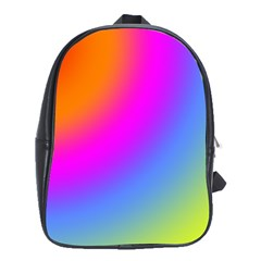 Radial Gradients Red Orange Pink Blue Green School Bags (xl)