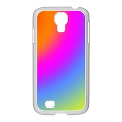 Radial Gradients Red Orange Pink Blue Green Samsung Galaxy S4 I9500/ I9505 Case (white)