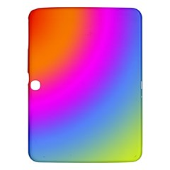 Radial Gradients Red Orange Pink Blue Green Samsung Galaxy Tab 3 (10 1 ) P5200 Hardshell Case