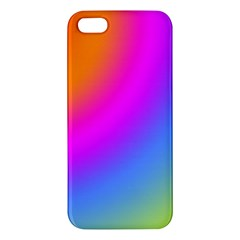 Radial Gradients Red Orange Pink Blue Green Iphone 5s/ Se Premium Hardshell Case