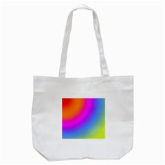 Radial Gradients Red Orange Pink Blue Green Tote Bag (white)