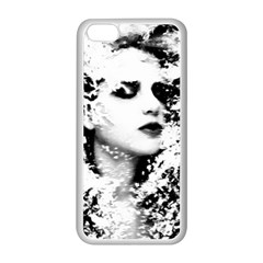 Romantic Dreaming Girl Grunge Black White Apple Iphone 5c Seamless Case (white)