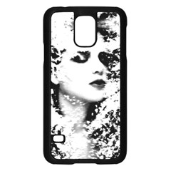 Romantic Dreaming Girl Grunge Black White Samsung Galaxy S5 Case (black)