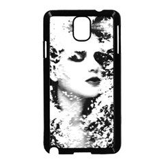 Romantic Dreaming Girl Grunge Black White Samsung Galaxy Note 3 Neo Hardshell Case (black)