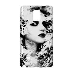 Romantic Dreaming Girl Grunge Black White Samsung Galaxy Note 4 Hardshell Case