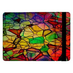 Abstract Squares Triangle Polygon Samsung Galaxy Tab Pro 12 2  Flip Case