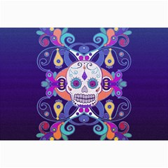 Día De Los Muertos Skull Ornaments Multicolored Collage Prints