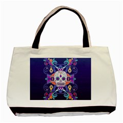 Día De Los Muertos Skull Ornaments Multicolored Basic Tote Bag
