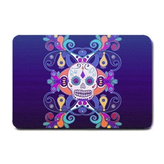 Día De Los Muertos Skull Ornaments Multicolored Small Doormat