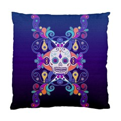 Día De Los Muertos Skull Ornaments Multicolored Standard Cushion Case (two Sides)