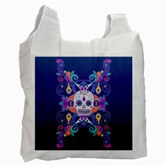 Día De Los Muertos Skull Ornaments Multicolored Recycle Bag (one Side)