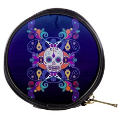 Día De Los Muertos Skull Ornaments Multicolored Mini Makeup Bags