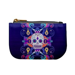 Día De Los Muertos Skull Ornaments Multicolored Mini Coin Purses