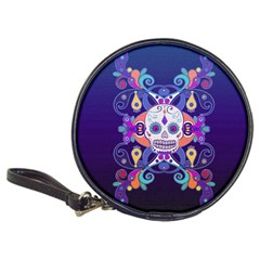 Día De Los Muertos Skull Ornaments Multicolored Classic 20 Cd Wallets