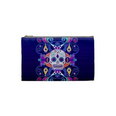 Día De Los Muertos Skull Ornaments Multicolored Cosmetic Bag (small)