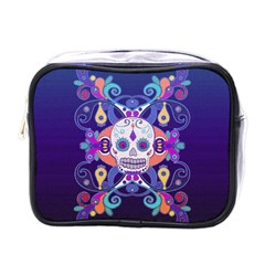 Día De Los Muertos Skull Ornaments Multicolored Mini Toiletries Bags