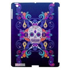 Día De Los Muertos Skull Ornaments Multicolored Apple Ipad 3/4 Hardshell Case (compatible With Smart Cover)