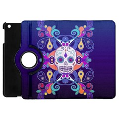 Día De Los Muertos Skull Ornaments Multicolored Apple Ipad Mini Flip 360 Case