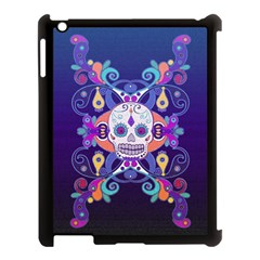 Día De Los Muertos Skull Ornaments Multicolored Apple Ipad 3/4 Case (black)