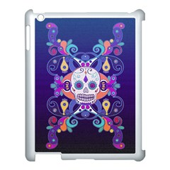 Día De Los Muertos Skull Ornaments Multicolored Apple Ipad 3/4 Case (white)