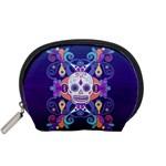 Día De Los Muertos Skull Ornaments Multicolored Accessory Pouches (Small)  Front
