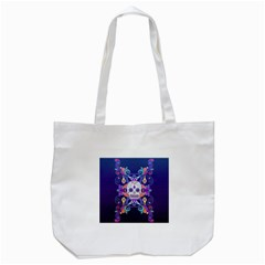 Día De Los Muertos Skull Ornaments Multicolored Tote Bag (white)