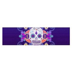 Día De Los Muertos Skull Ornaments Multicolored Satin Scarf (oblong)