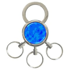 Simple blue 3-Ring Key Chains