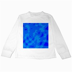 Simple blue Kids Long Sleeve T-Shirts