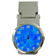 Simple blue Money Clip Watches